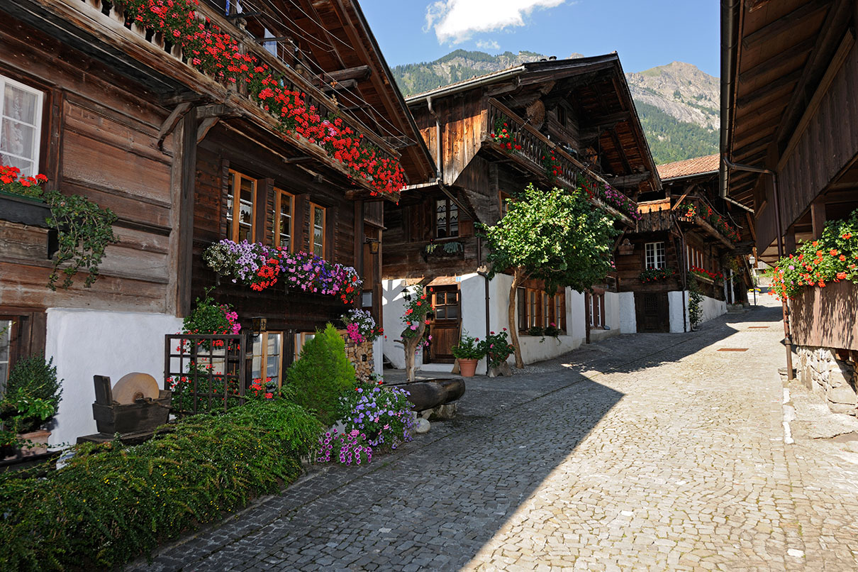 Brienz Switzerland - Old Town - Typically Swiss