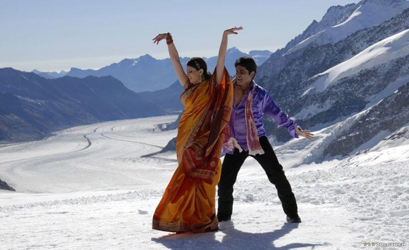 Switzerland and Indian Movie Stars